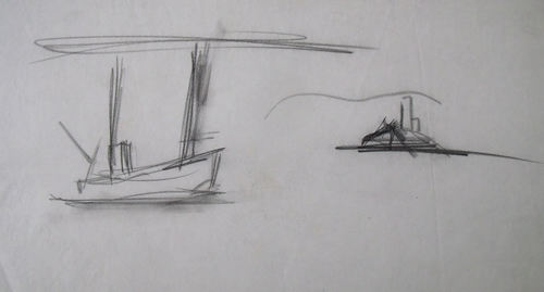"""Fishing Boat Sketch"""