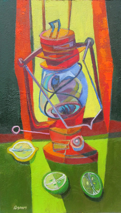 """""""Still Life with Lamp and Fruit"""""""