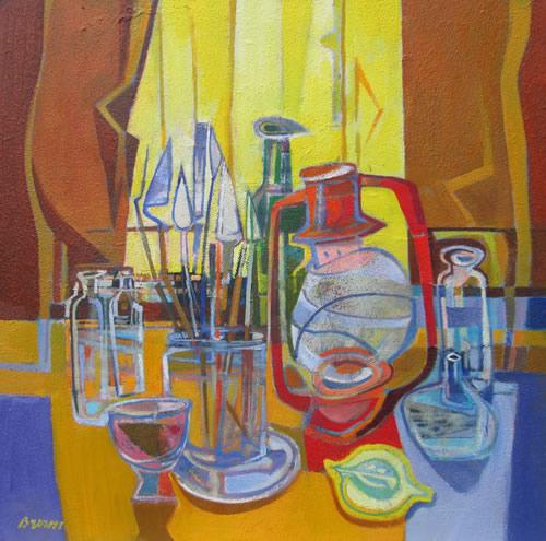 """""""The Studio (palette knives & lamp)"""""""