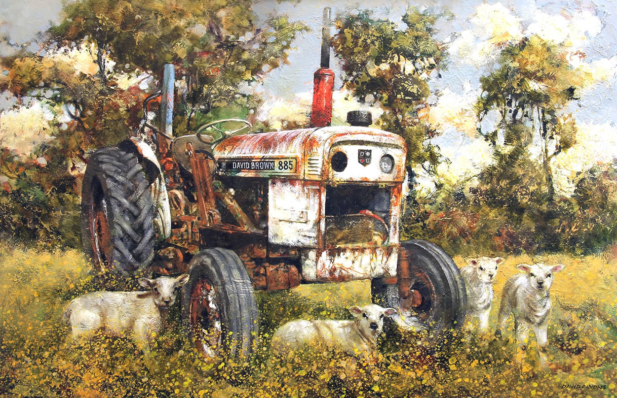 """Bev's Old Tractor"""