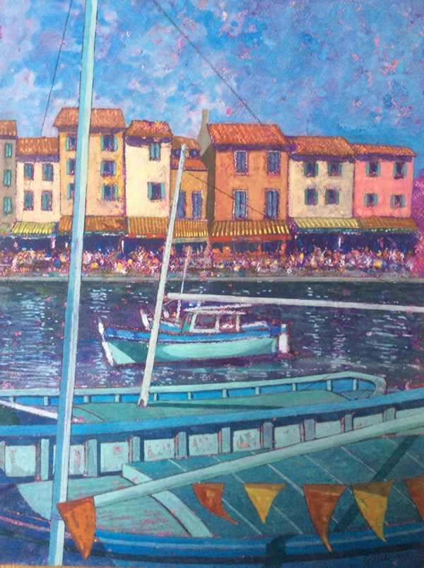 """Cassis in Blue"""