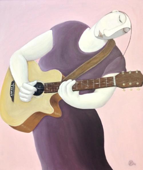 """Pink Guitarist"""