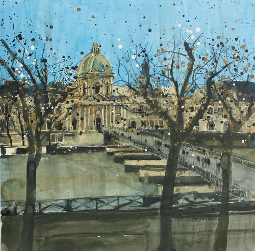 """Paris in Winter, Passarelle des Arts"""