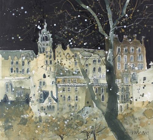 """St Giles in winter, Edinburgh"""