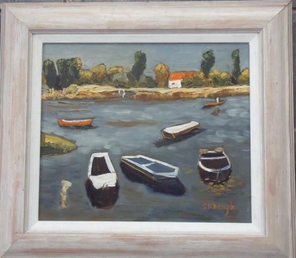"""""""Six Boats on the Loir"""""""