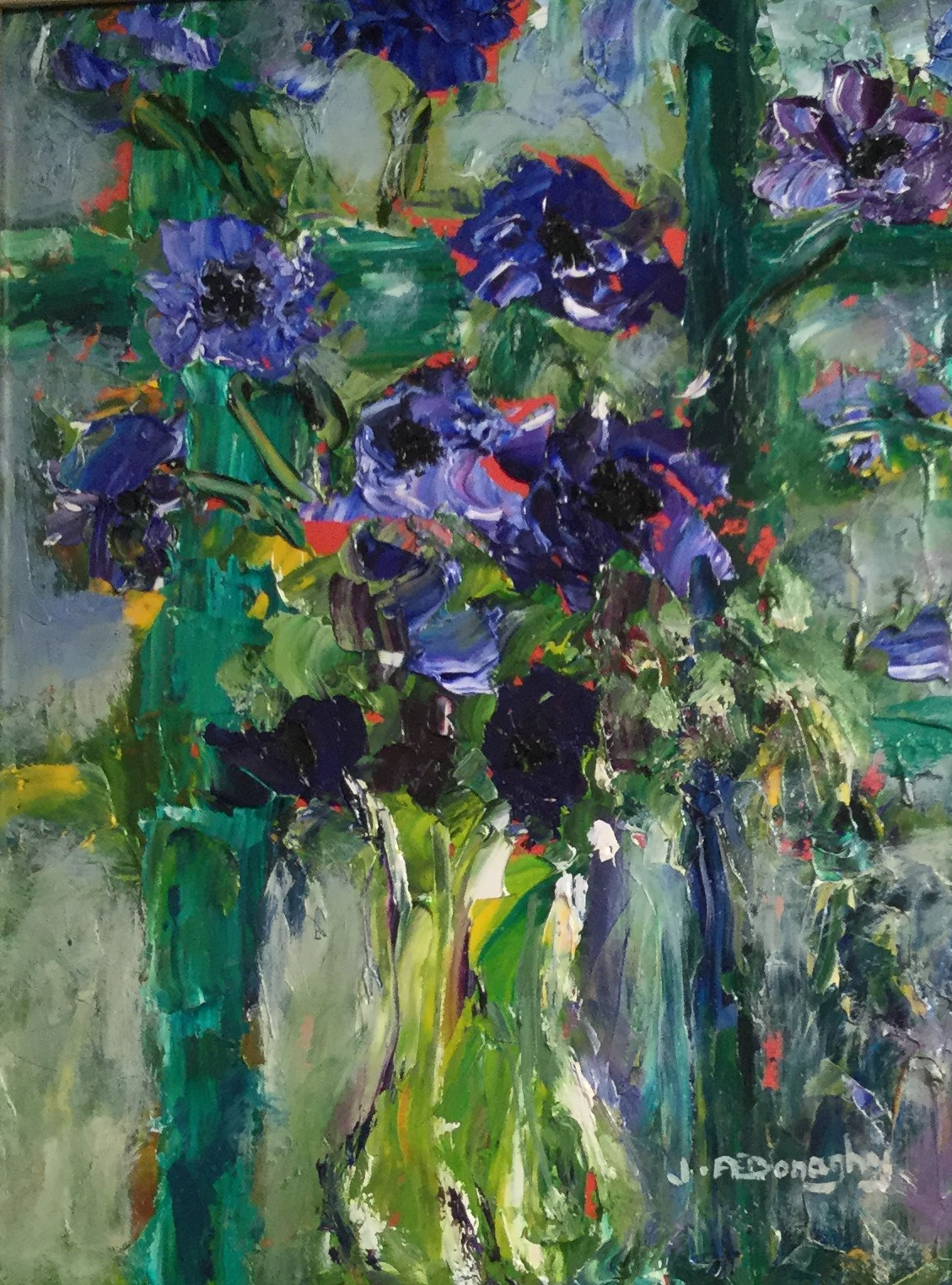 """Cornflowers and Trellis"""