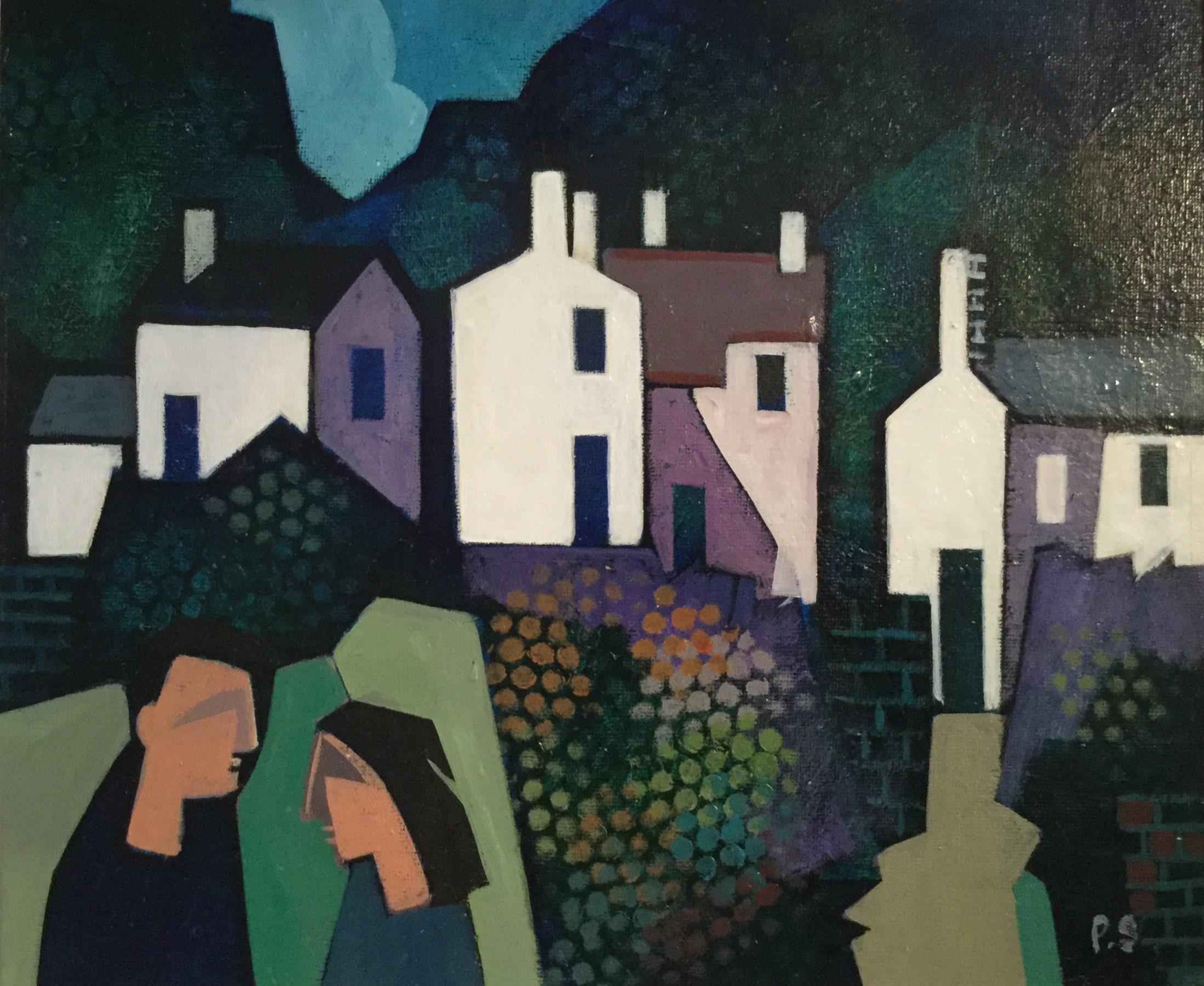 """Welsh Mountain Village"""