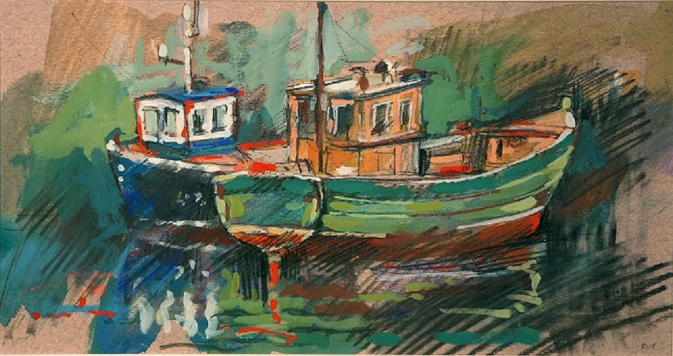 """Two Boats, St Abbs"""