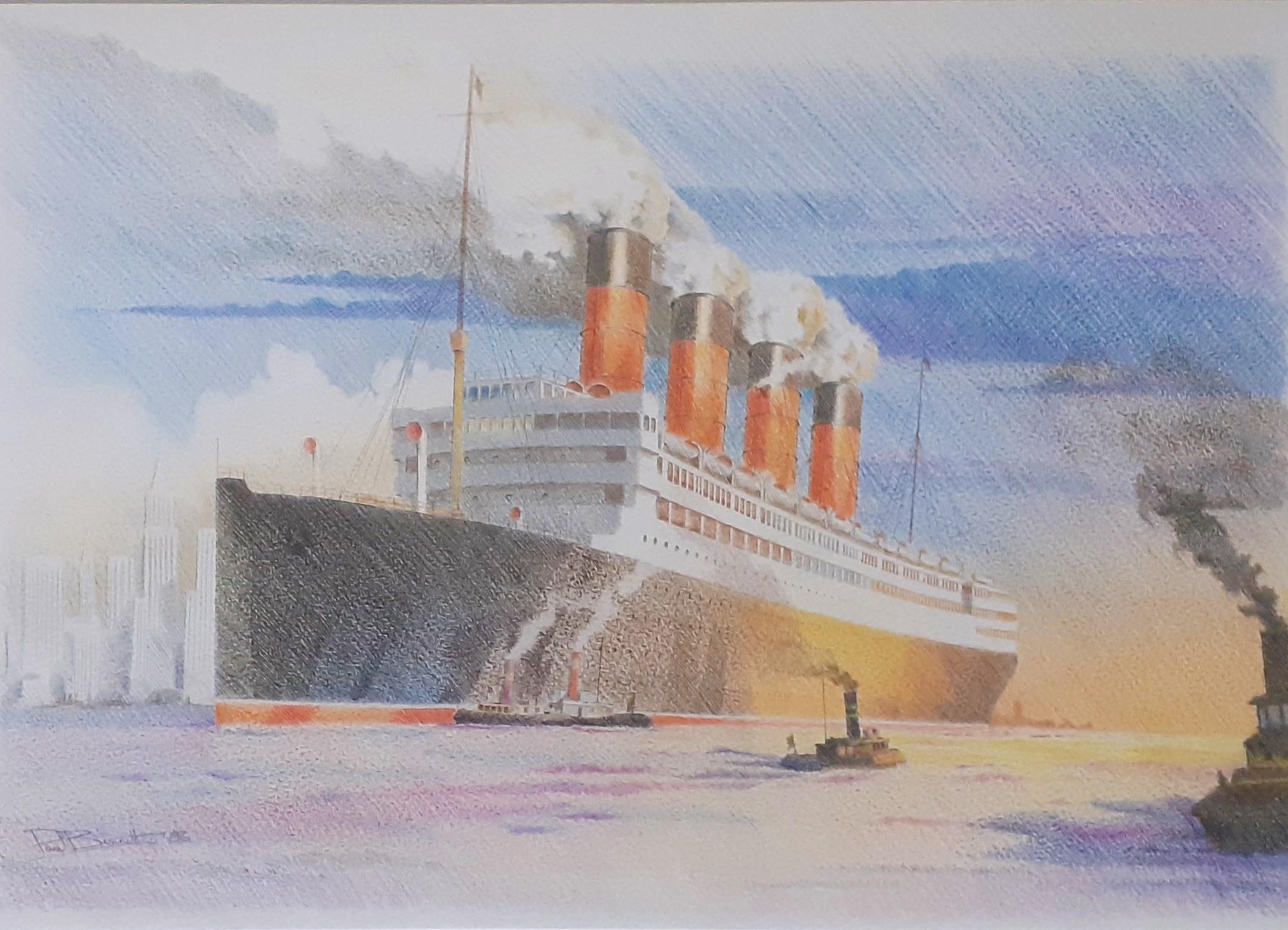 """New York Arrival (The Aquitania)"""