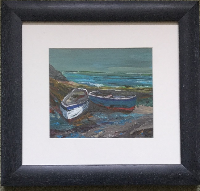 """Two Boats near Fishguard"""