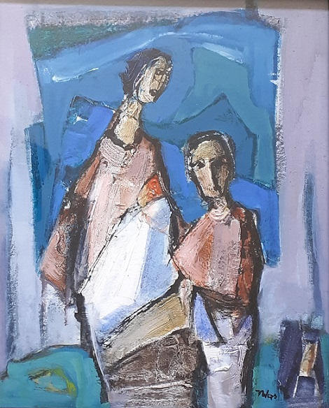 """Two Figures (Side 1)"""