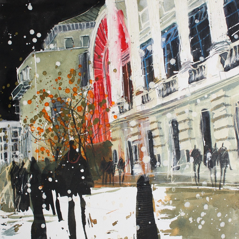 """Night Scene, Royal Opera House"""
